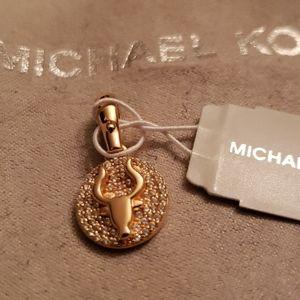 Michael Kors Nwt Gold Crystal taurus Charm